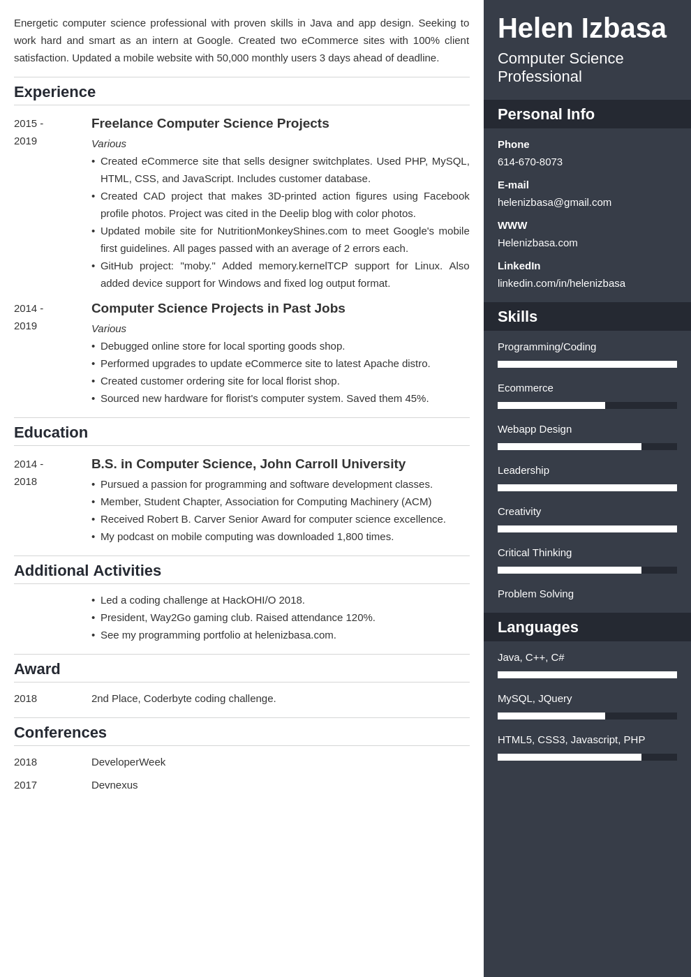 internship template enfold