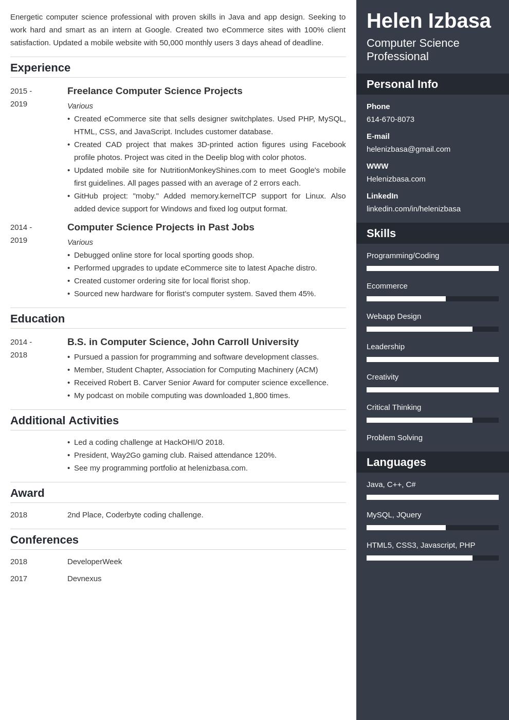 internship template enfold uk
