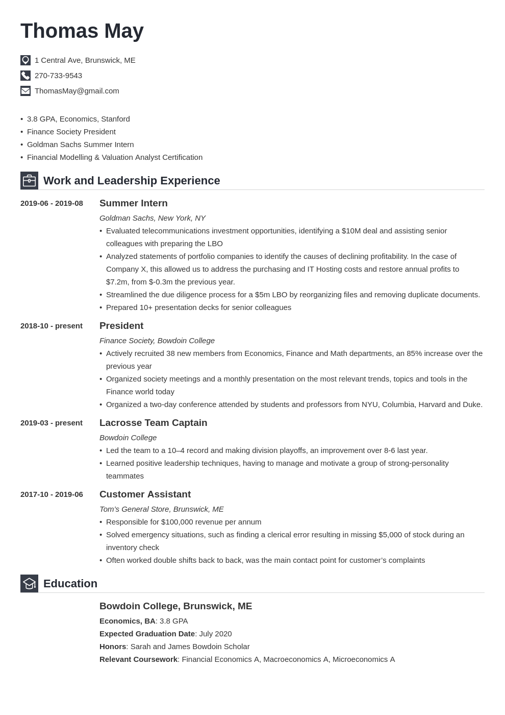 investment banking template iconic uk