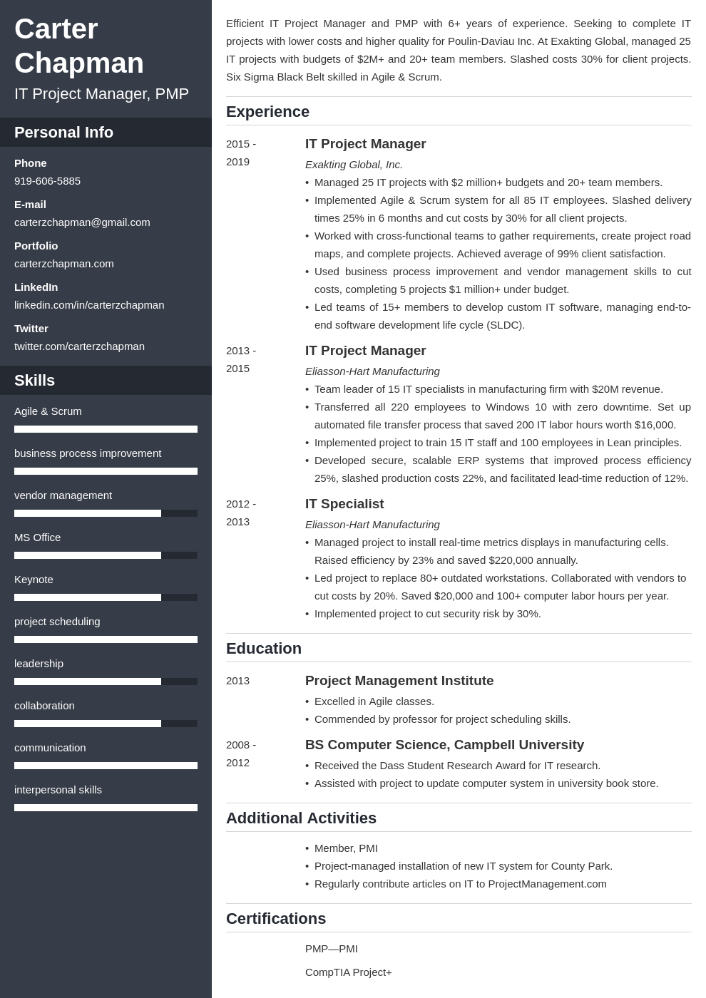 it project manager template cascade uk