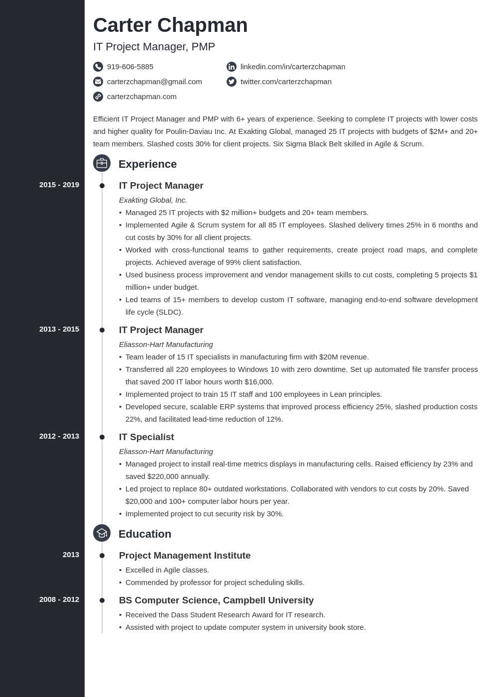 it project manager template concept uk