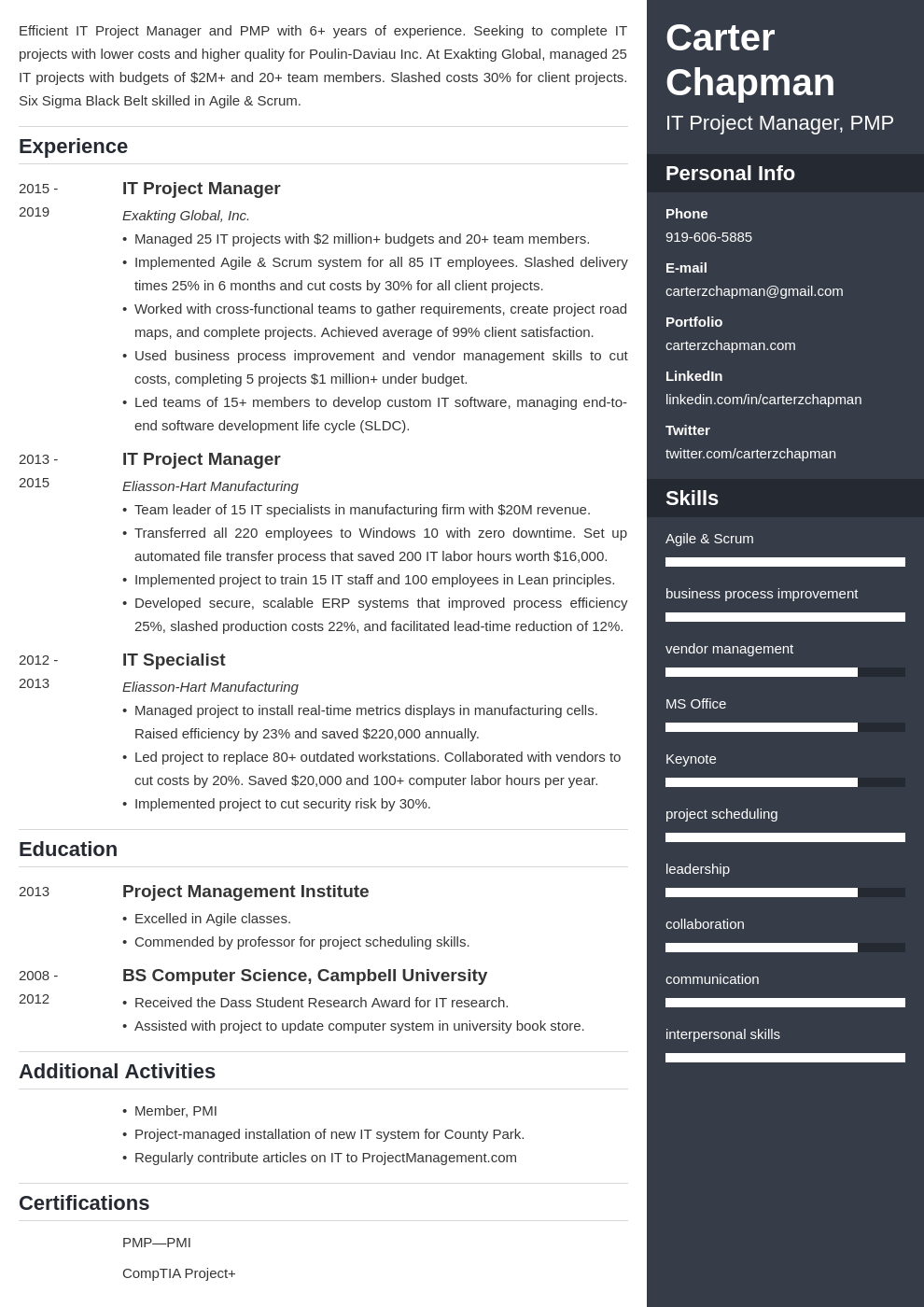 it project manager template enfold uk