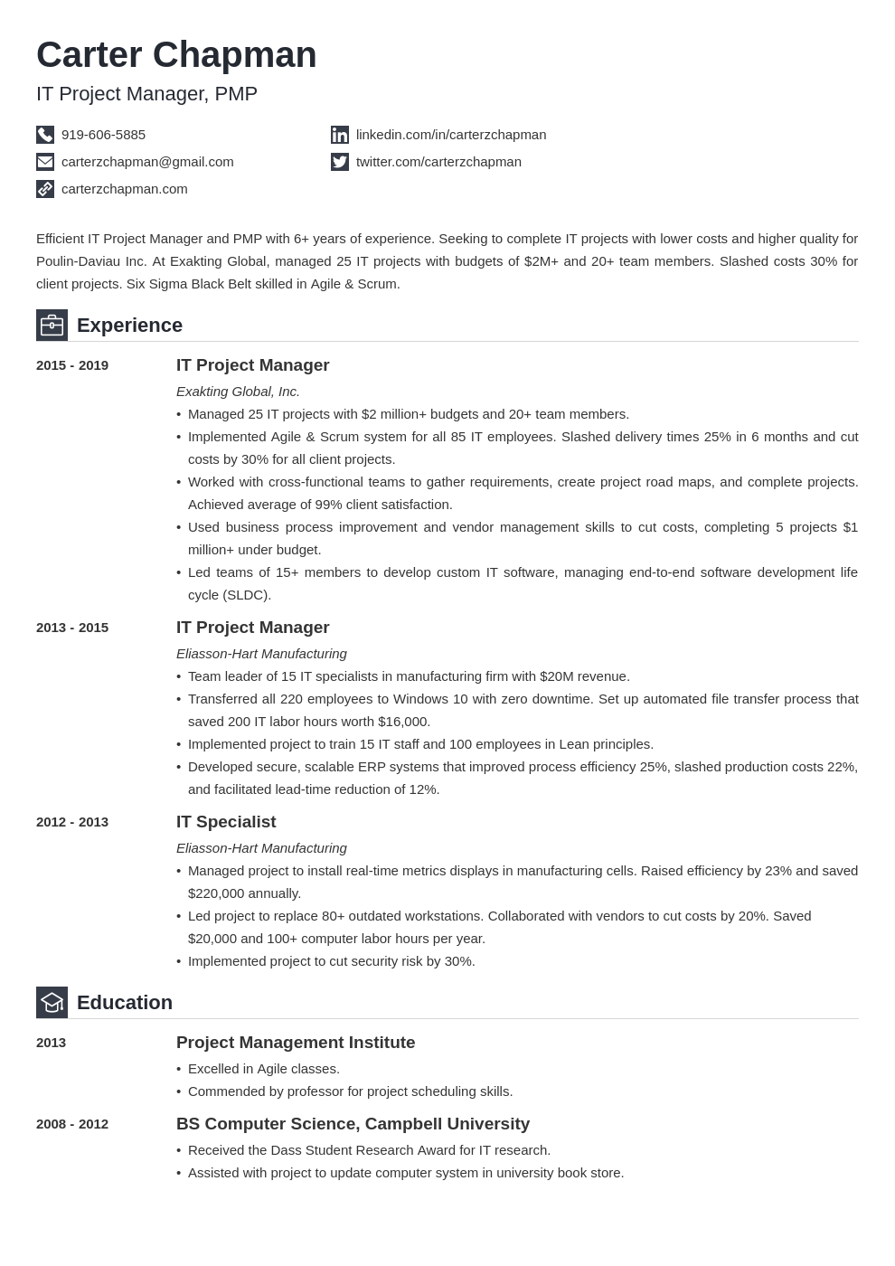 it project manager template iconic uk