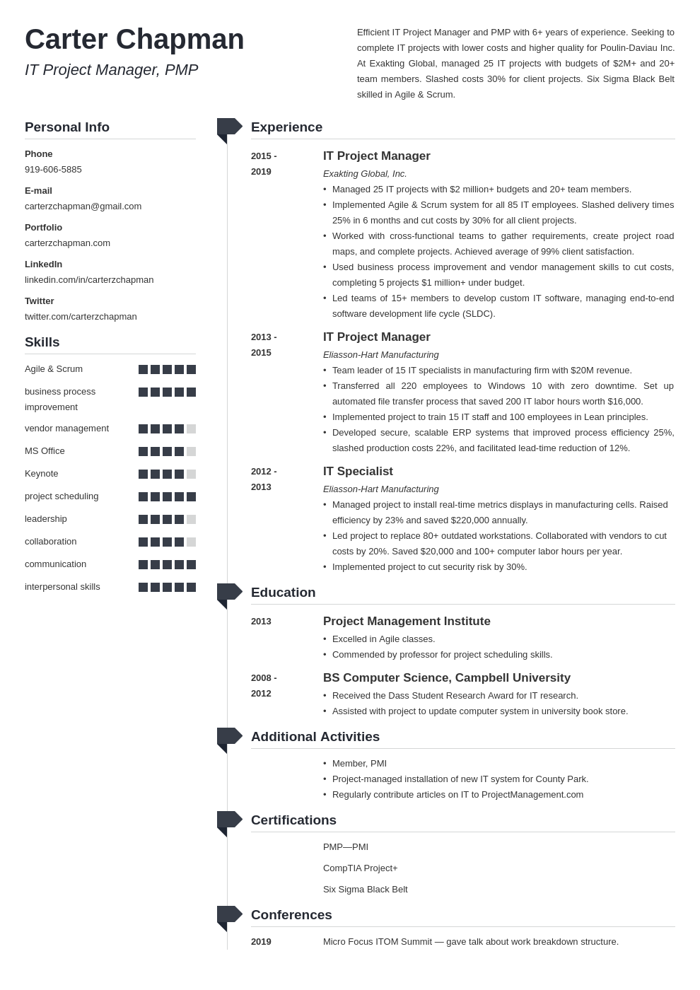 it project manager template muse uk