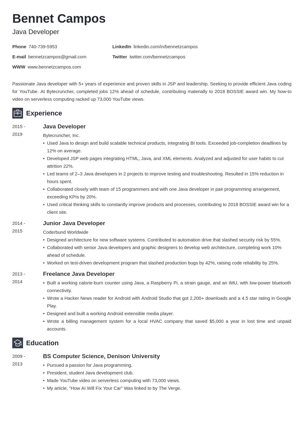 java developer template newcast uk