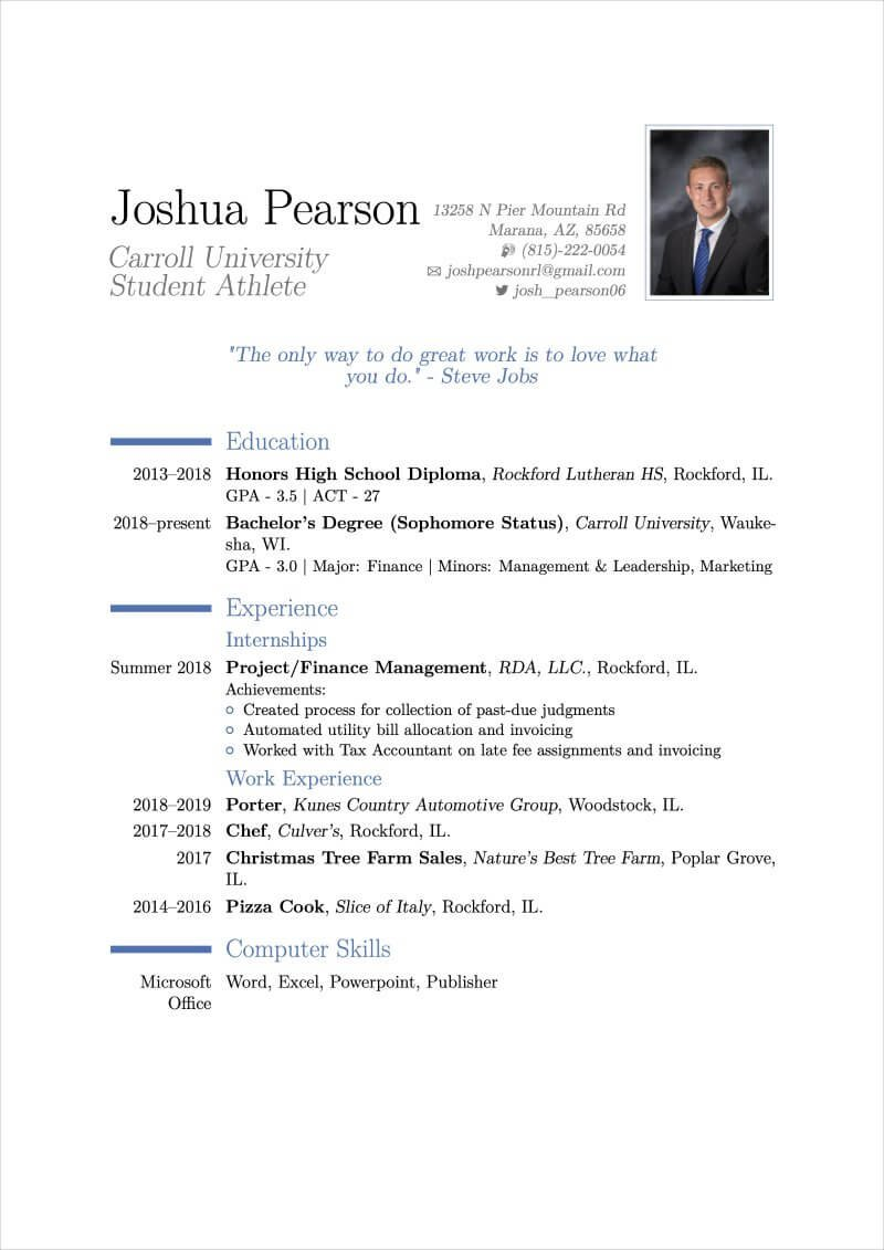 15 Latex Resume Templates And Cv Templates For 2021