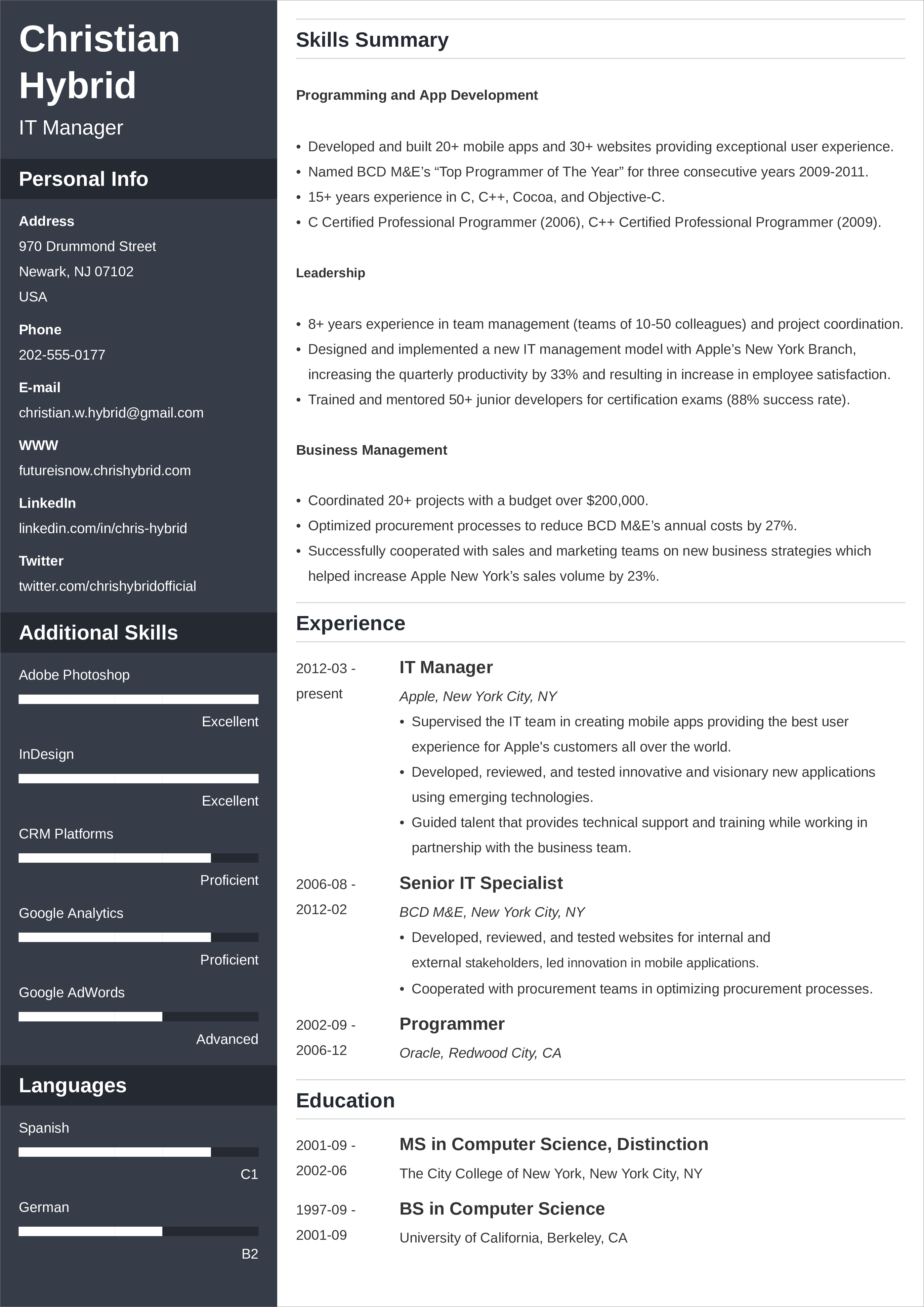 resume layout  examples  u0026 best how