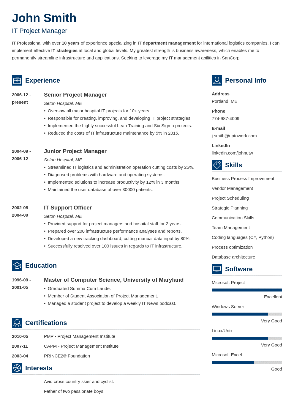 basic resume layout