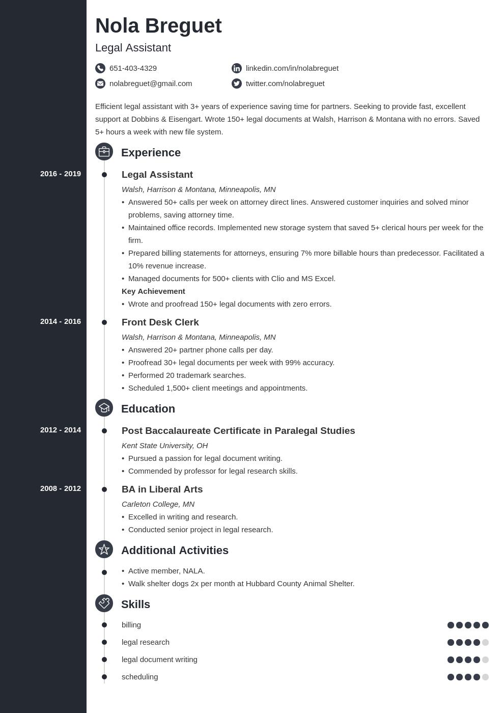 legal assistant template concept uk