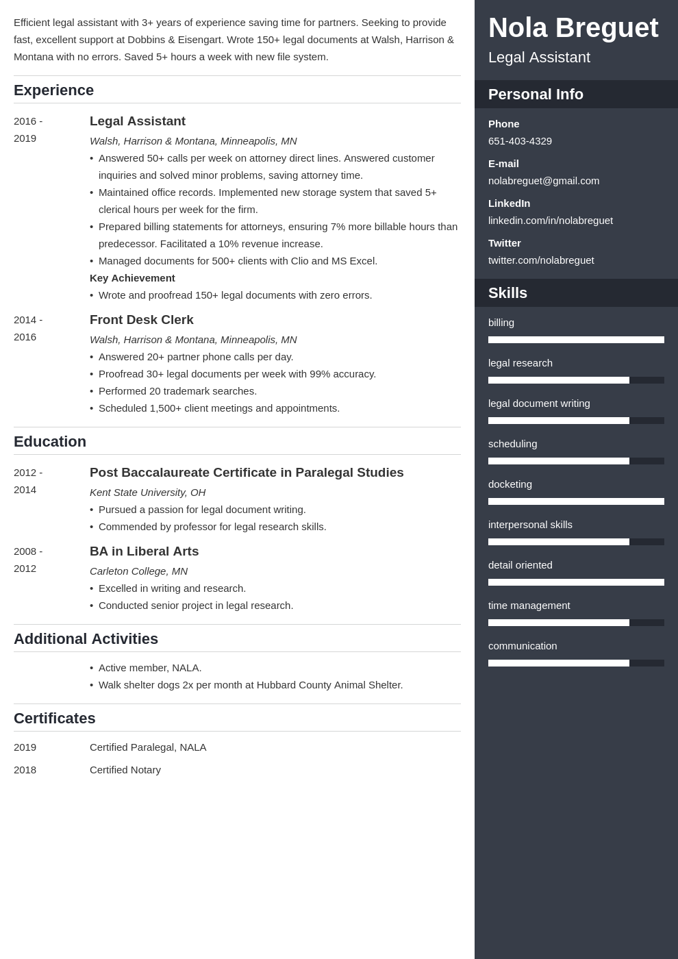 legal assistant template enfold uk