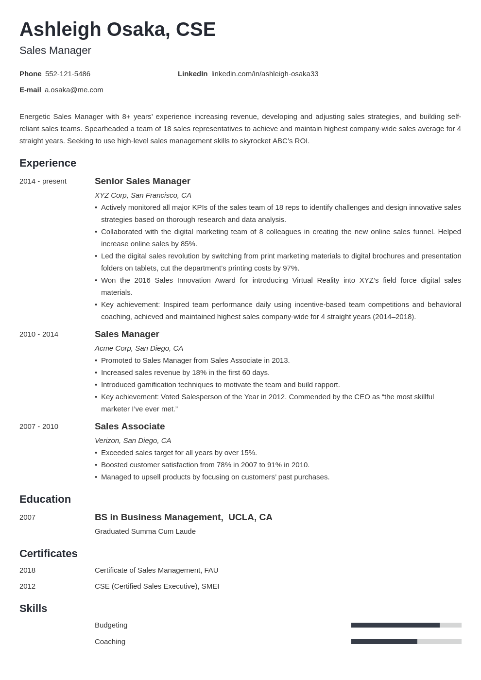manager template minimo uk