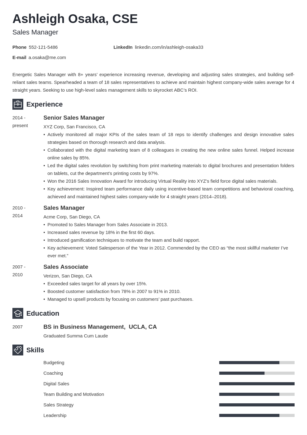 manager template newcast