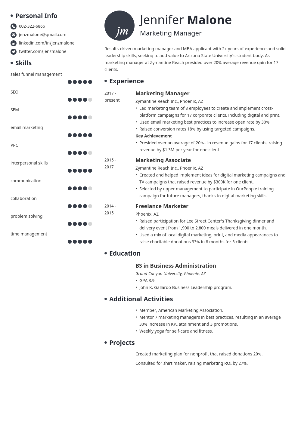 Mba Resume Format For Experienced from cdn-images.resumelab.com