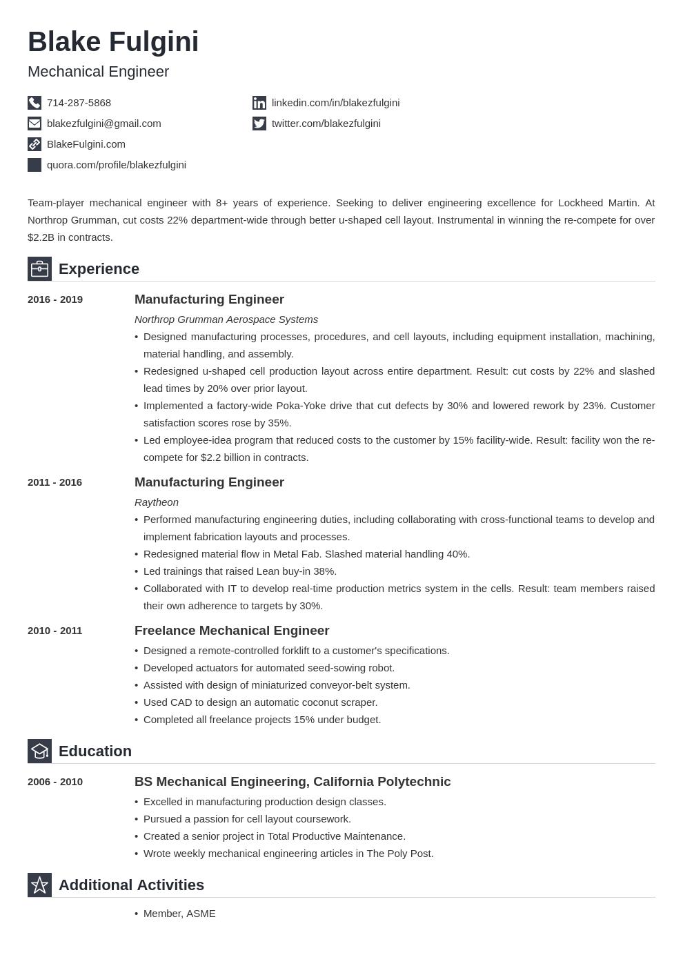 mechanical engineer template iconic uk