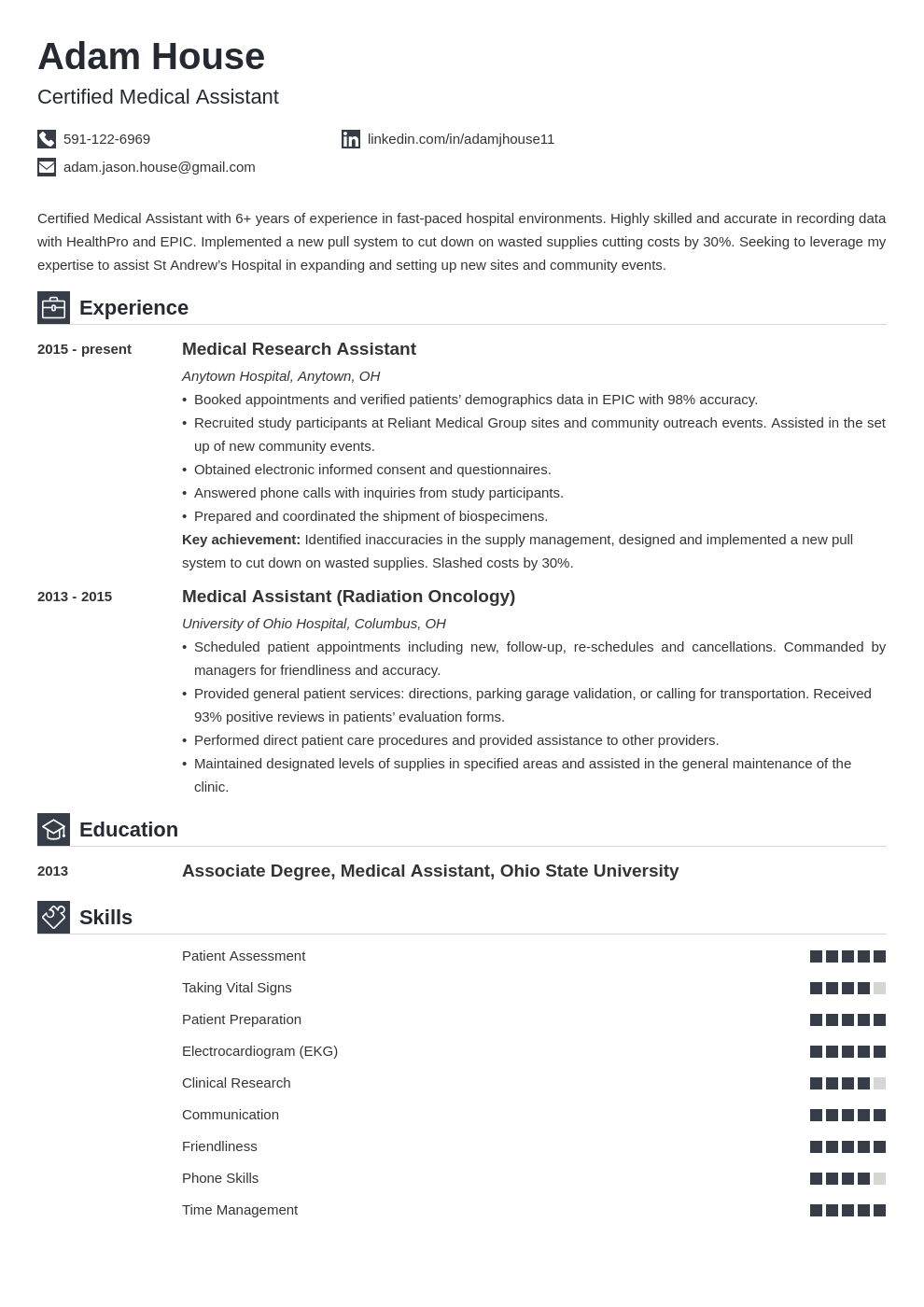 medical assistant template iconic uk