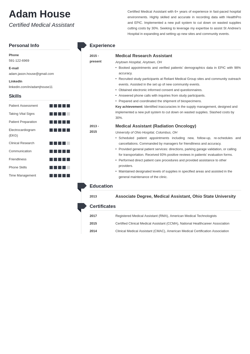 medical assistant template muse uk