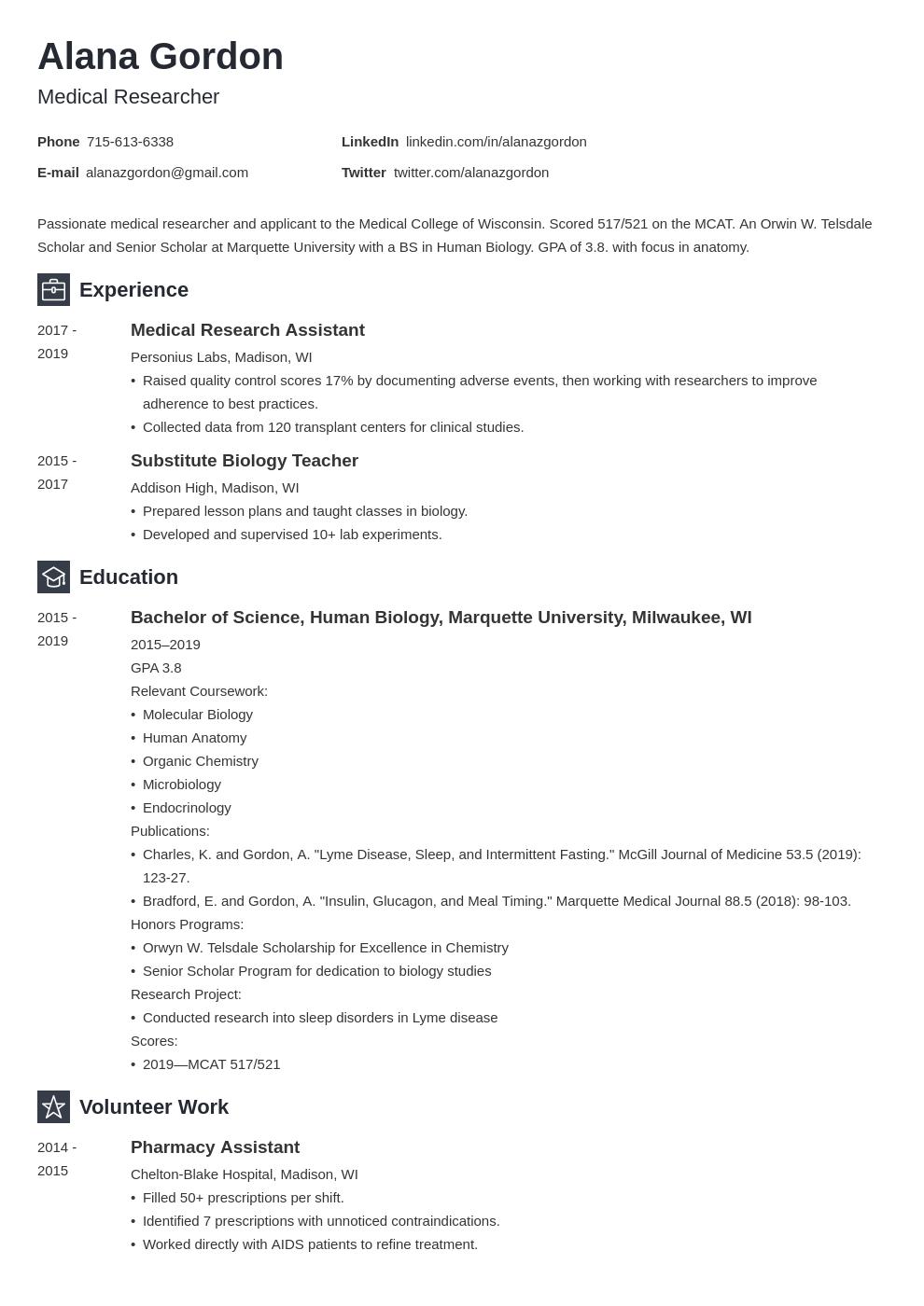 medical school template newcast