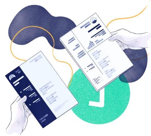 Modelo de currículo moderno editável pronto para download