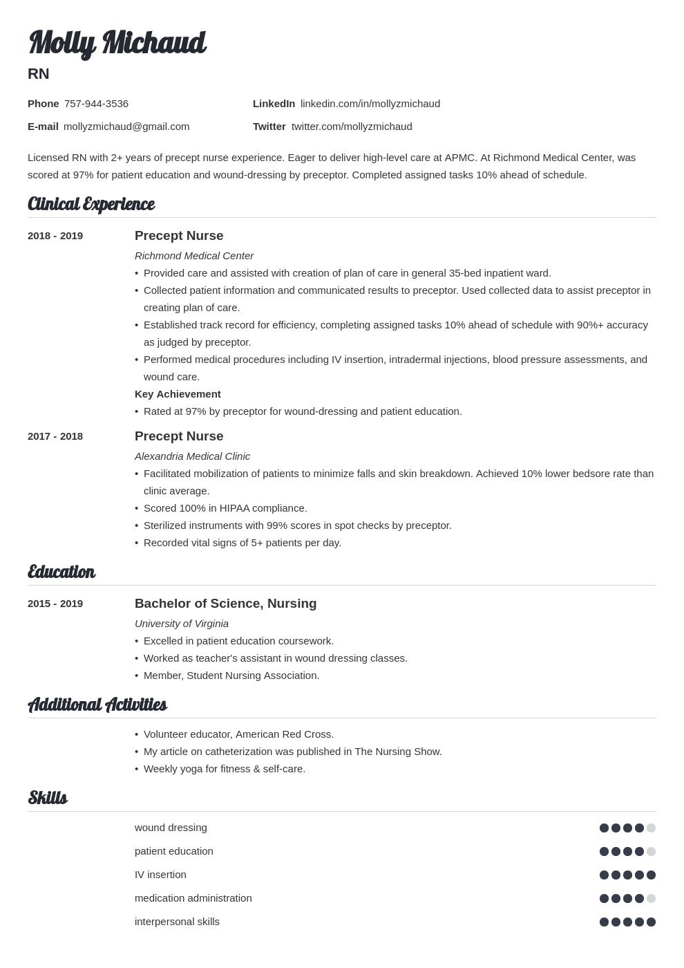 new grad nursing template valera uk