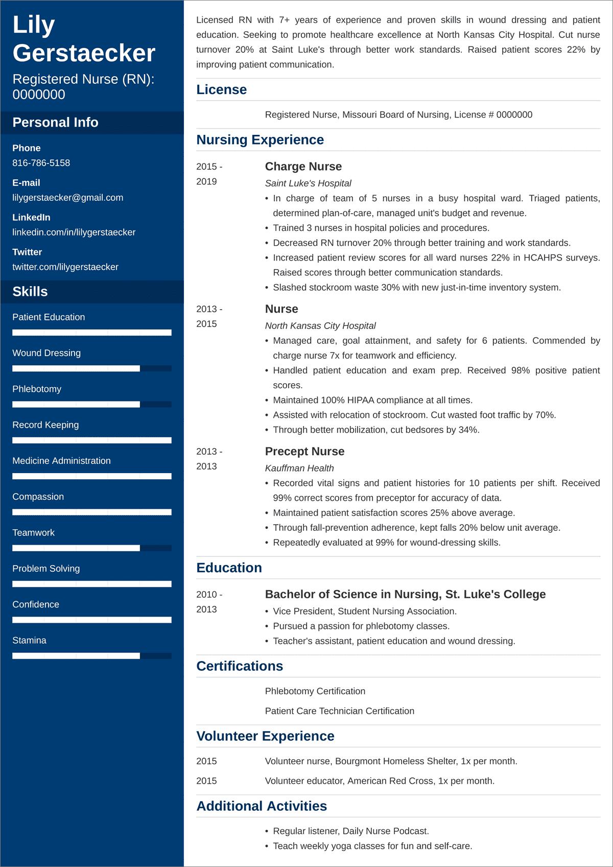 Nursing Resume Nurse Resume Examples And 25 Writing Tips