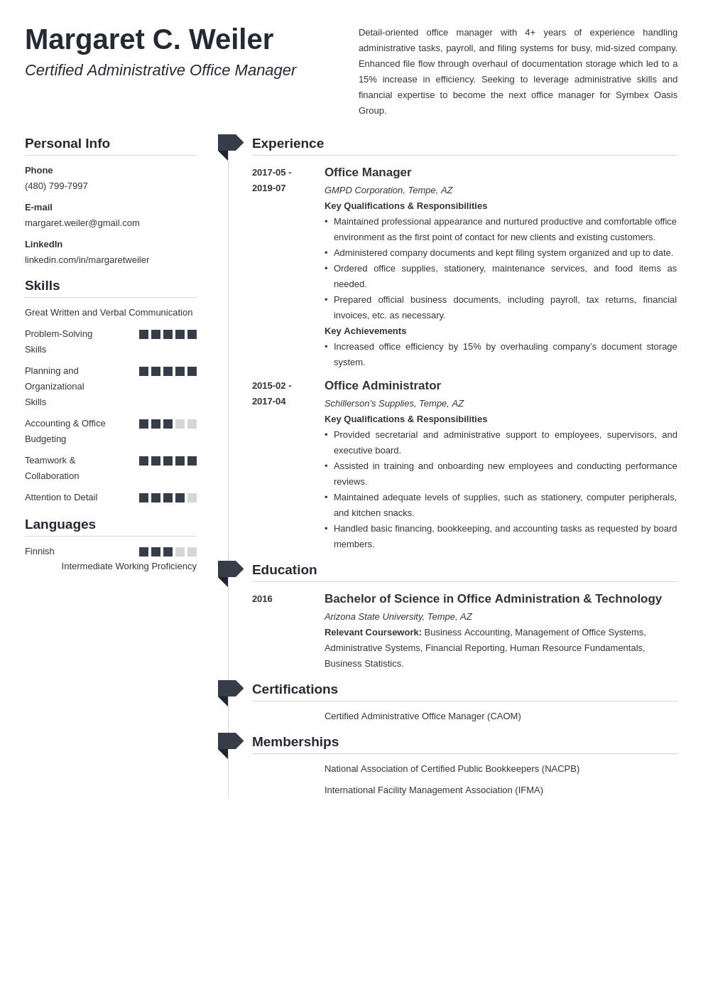 office manager template muse uk