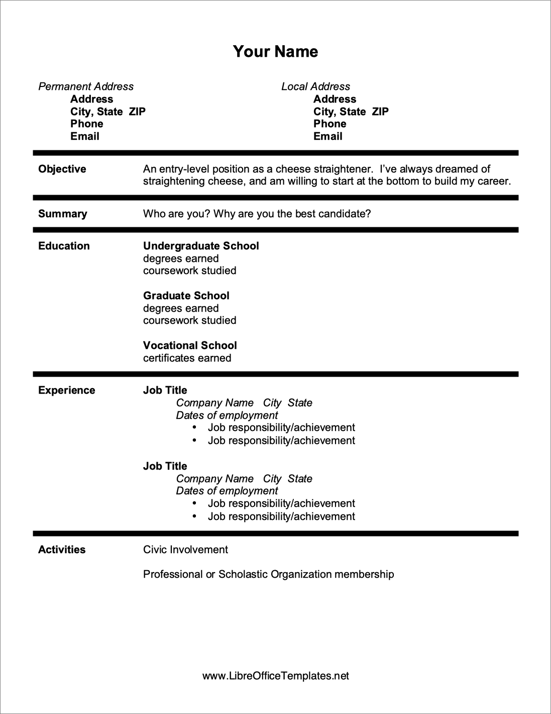 15  libreoffice    openoffice resume templates  free download