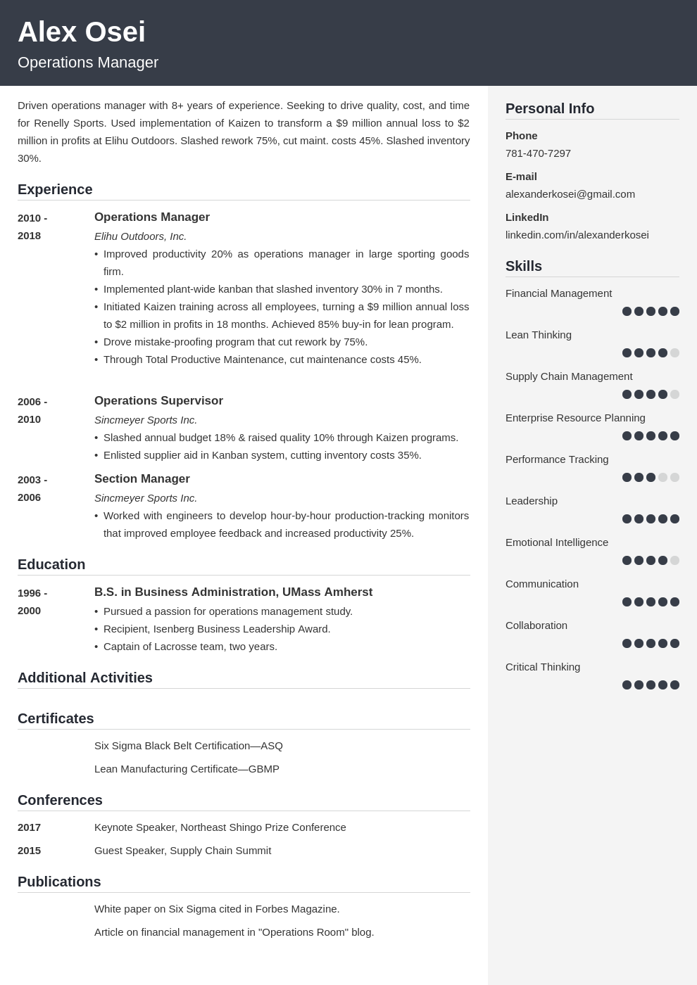operations manager template cubic uk
