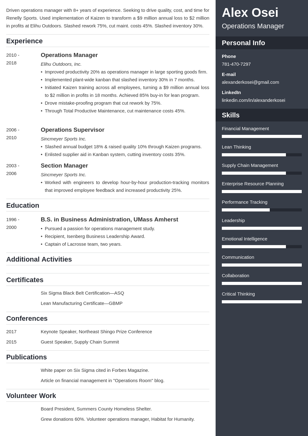 operations manager template enfold uk