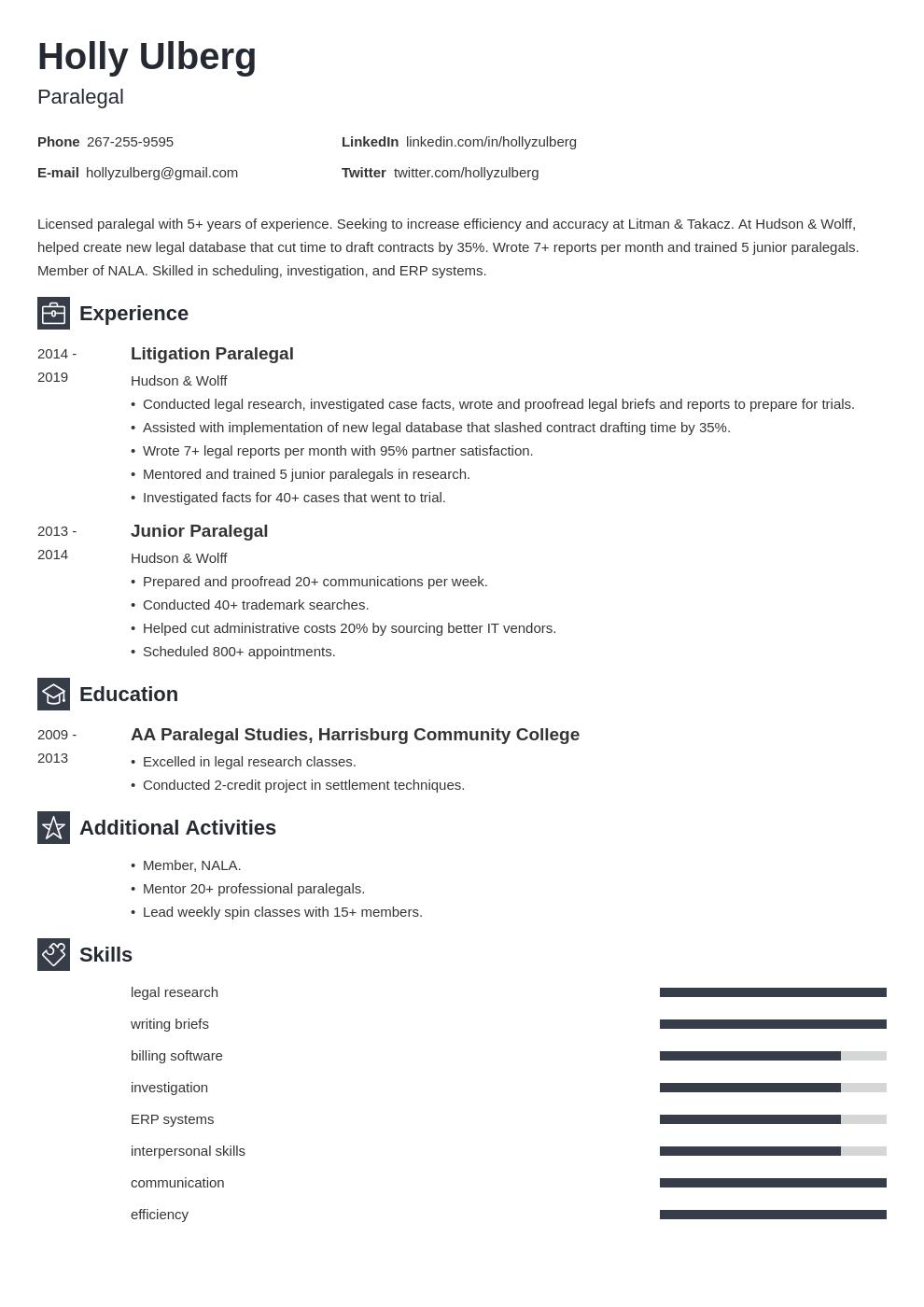 paralegal template newcast uk