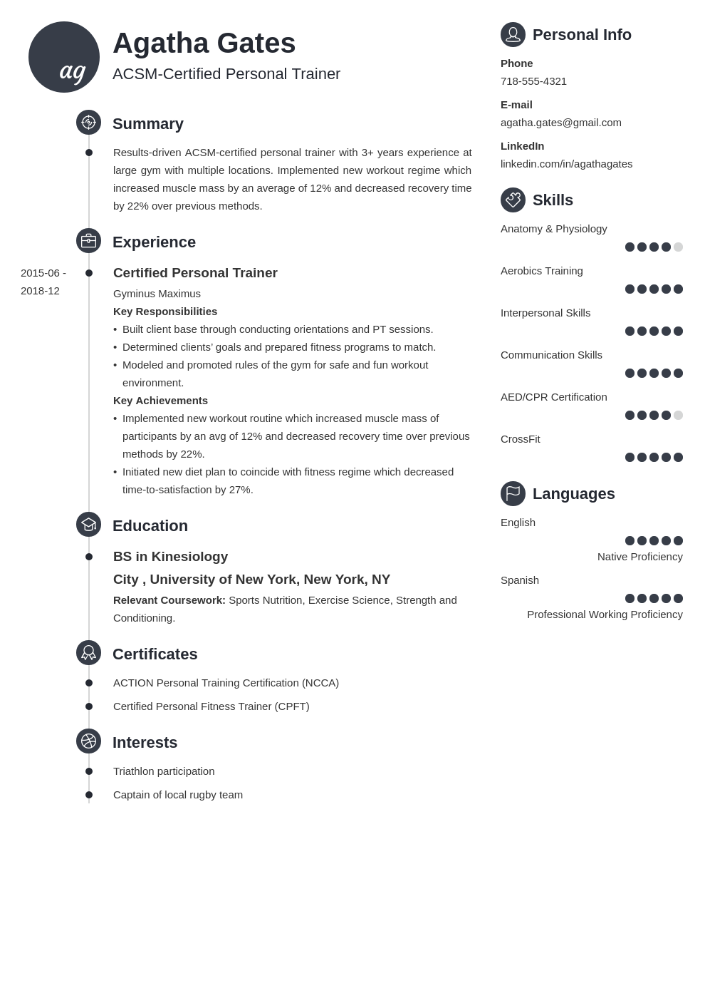 personal trainer template primo uk