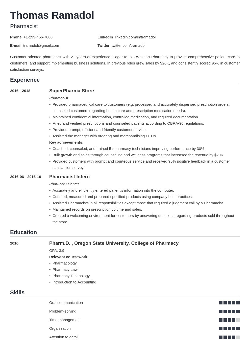 pharmacist template nanica uk