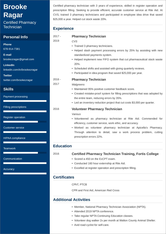 pharmacy technician resume sample u201420  examples and writing