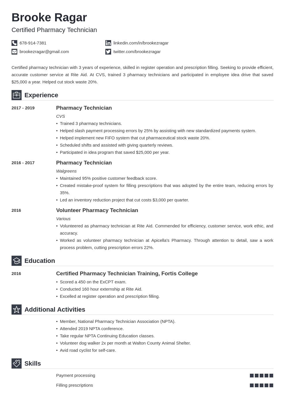 pharmacy technician template iconic uk