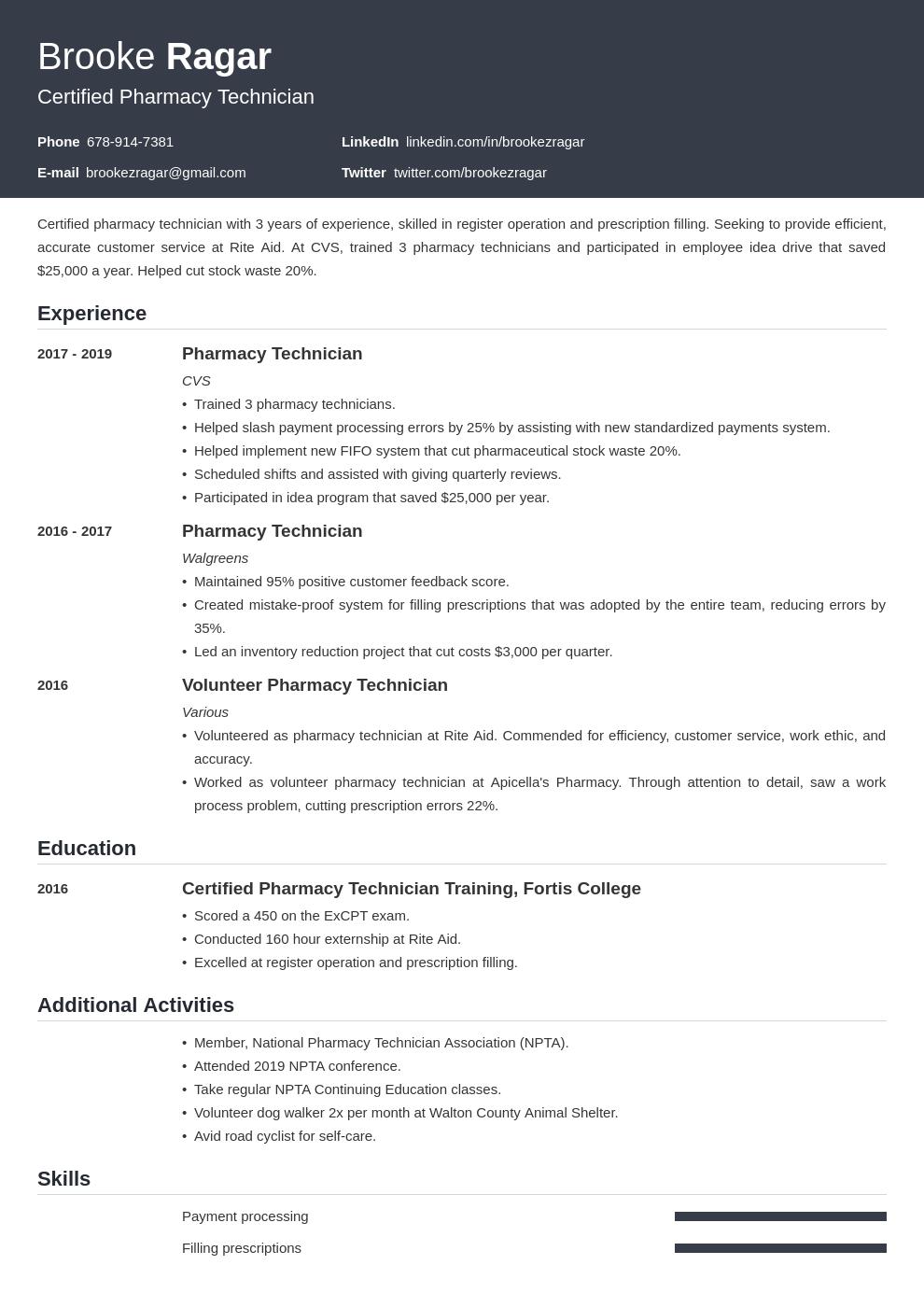 pharmacy technician template influx uk