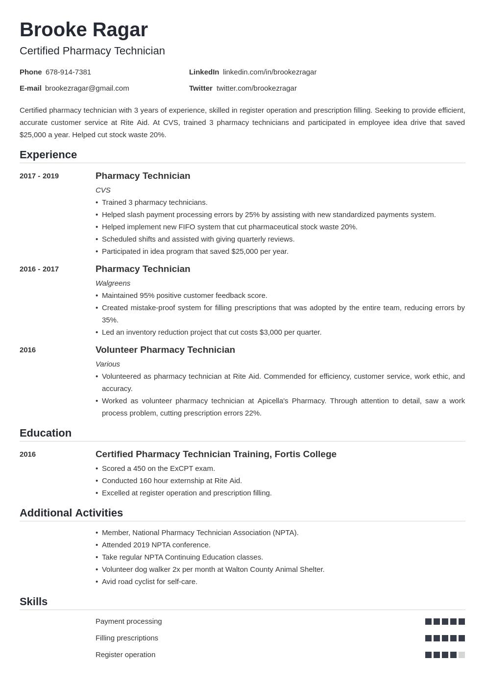 pharmacy technician template nanica uk
