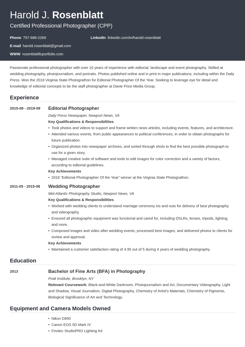 photographer template influx
