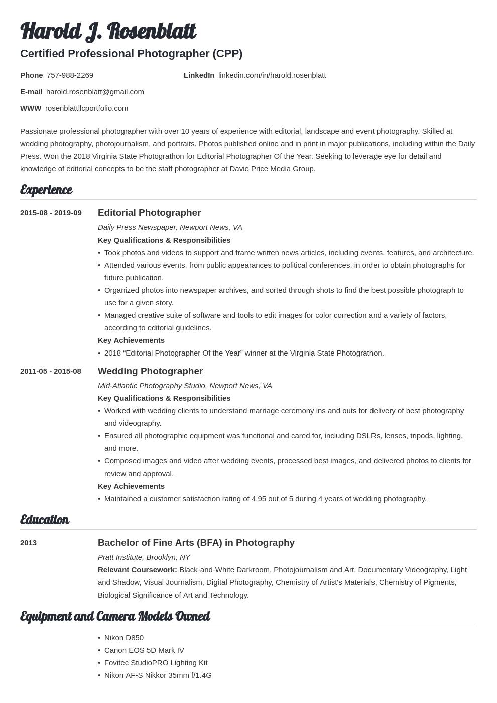 photographer template valera uk
