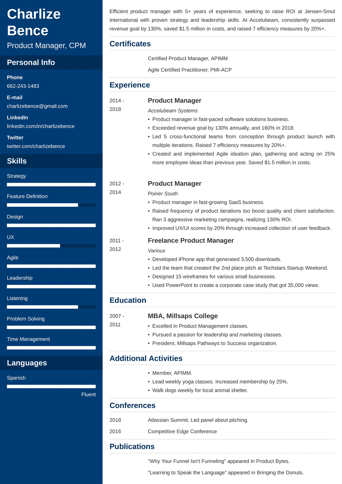 product manager resume sample—examples and 25 writing tips
