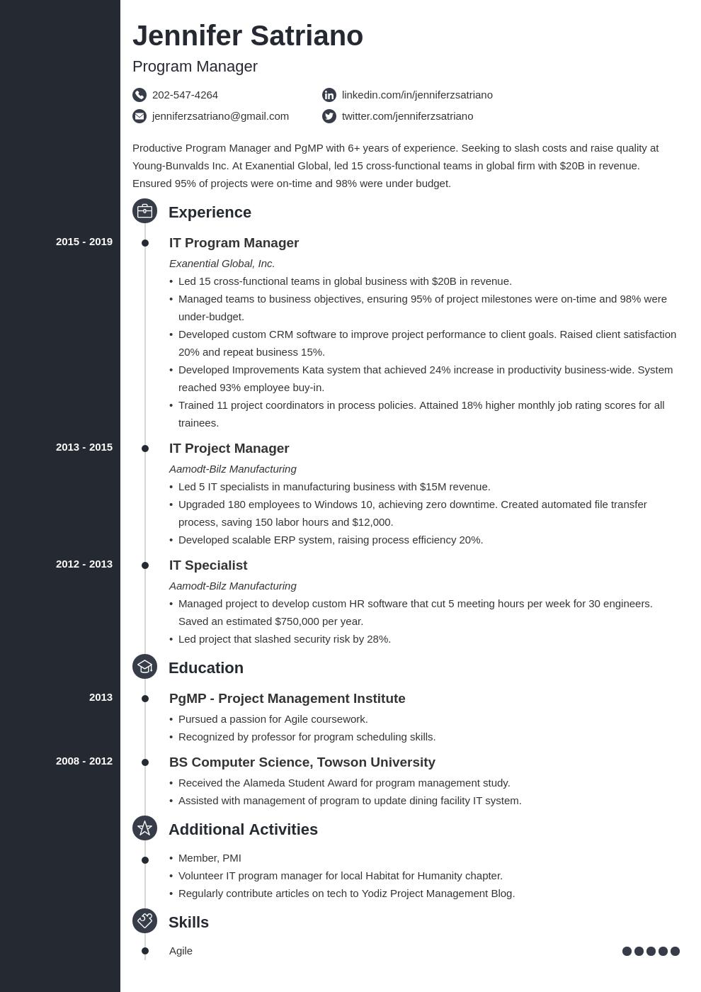 program manager template concept uk