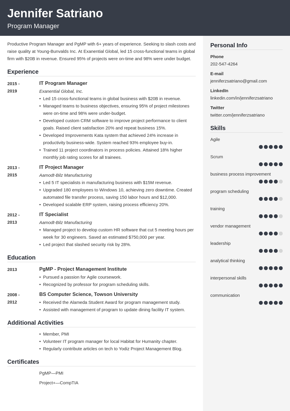program manager template cubic uk