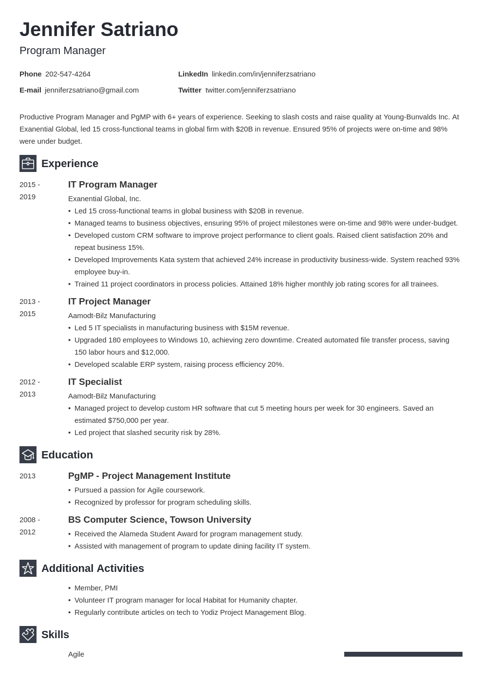 program manager template newcast uk