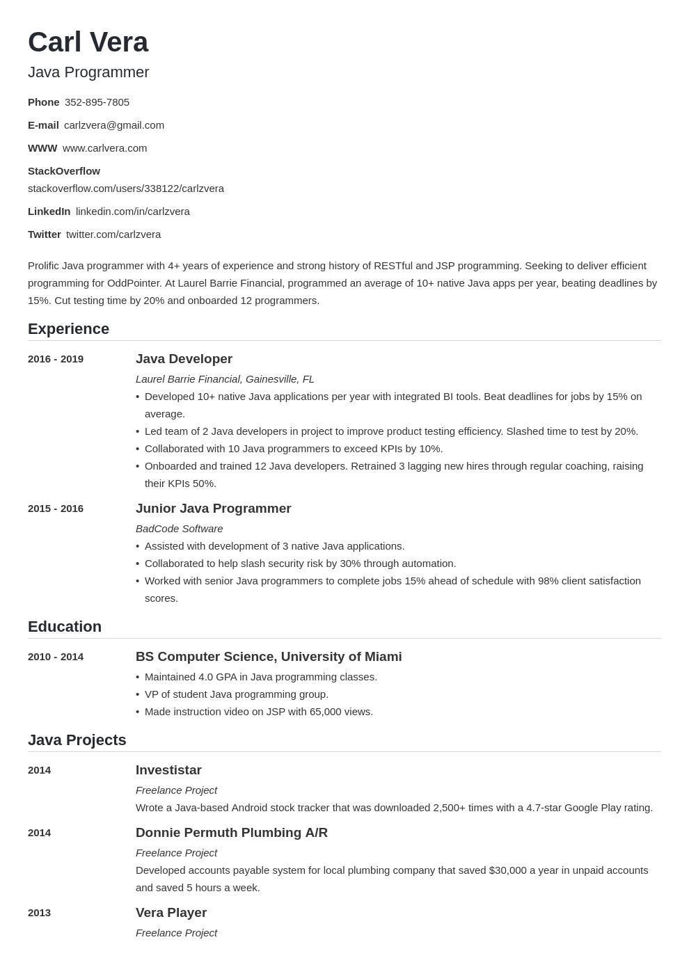 programmer template nanica uk