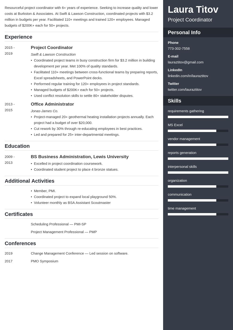 project coordinator template enfold