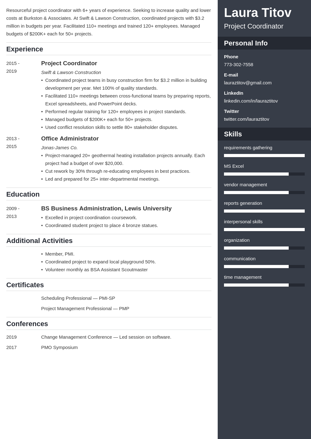 project coordinator template enfold uk