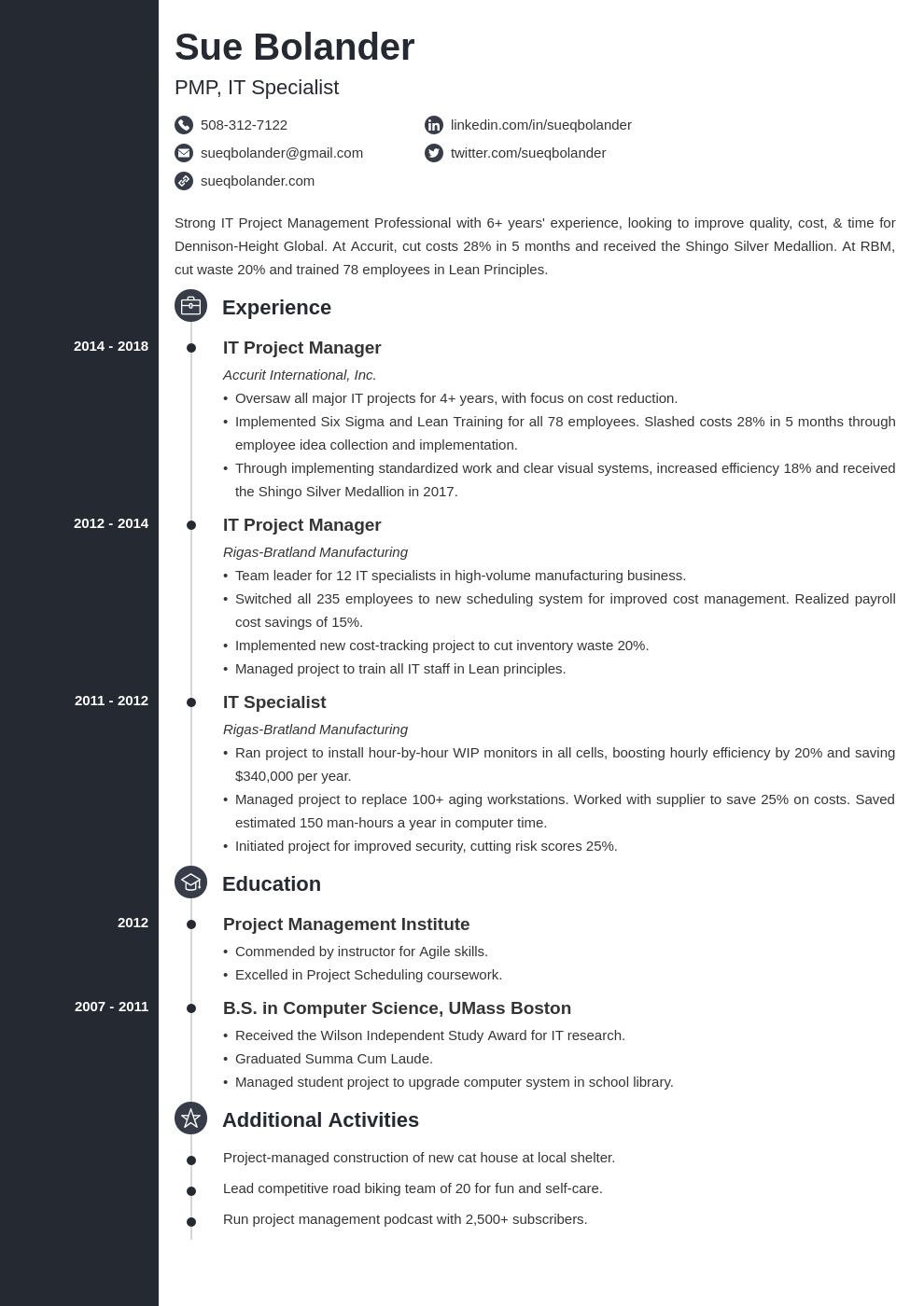 project manager template concept