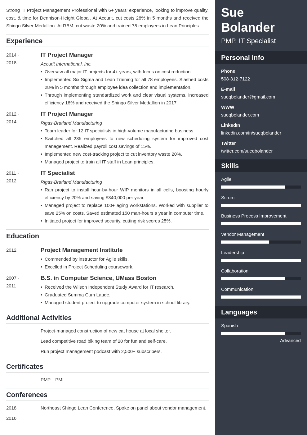 project manager template enfold