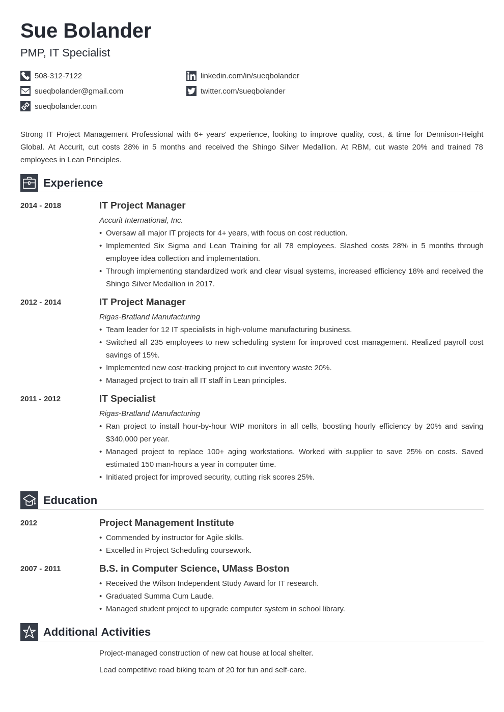 project manager template iconic uk
