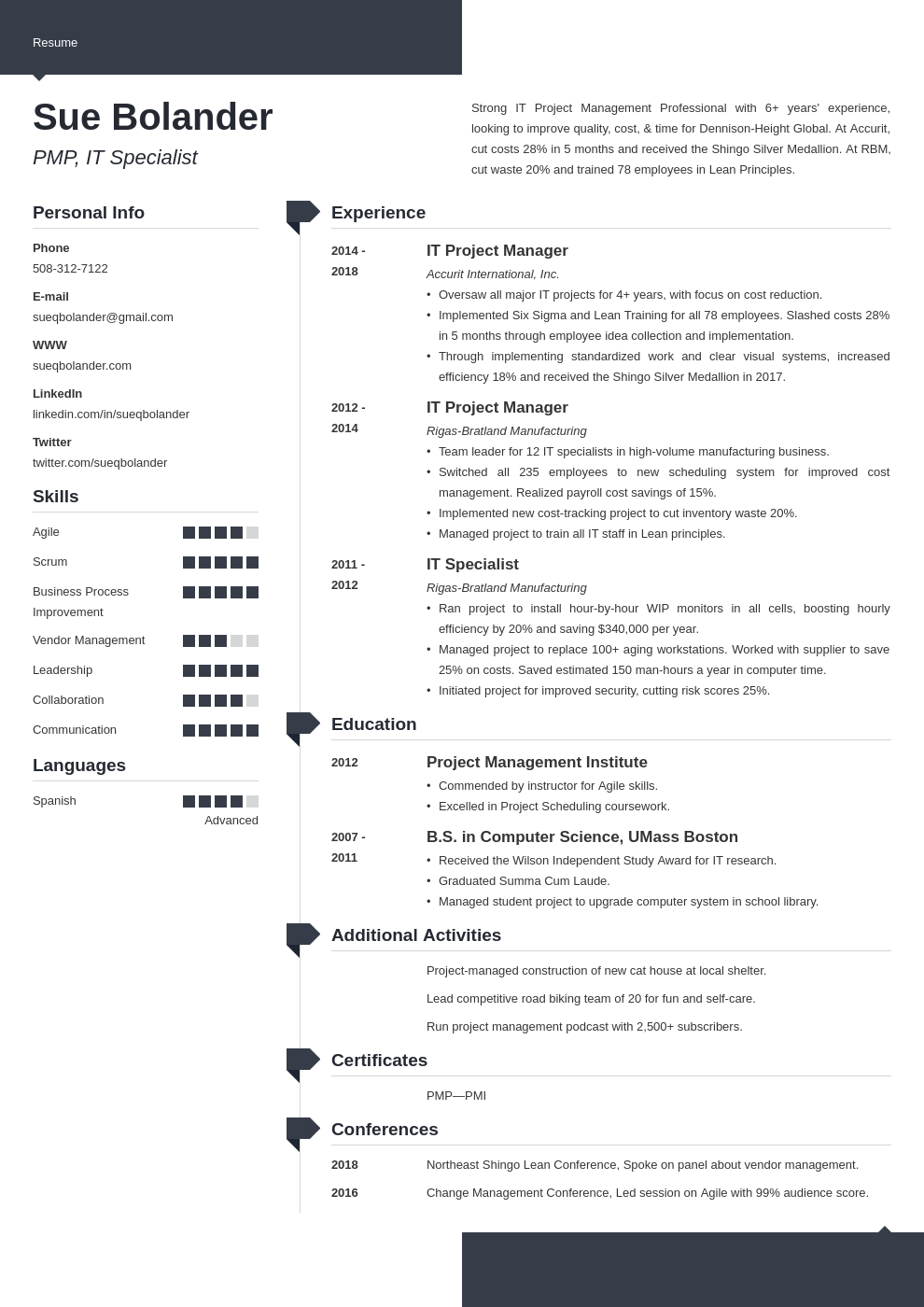 project manager template modern