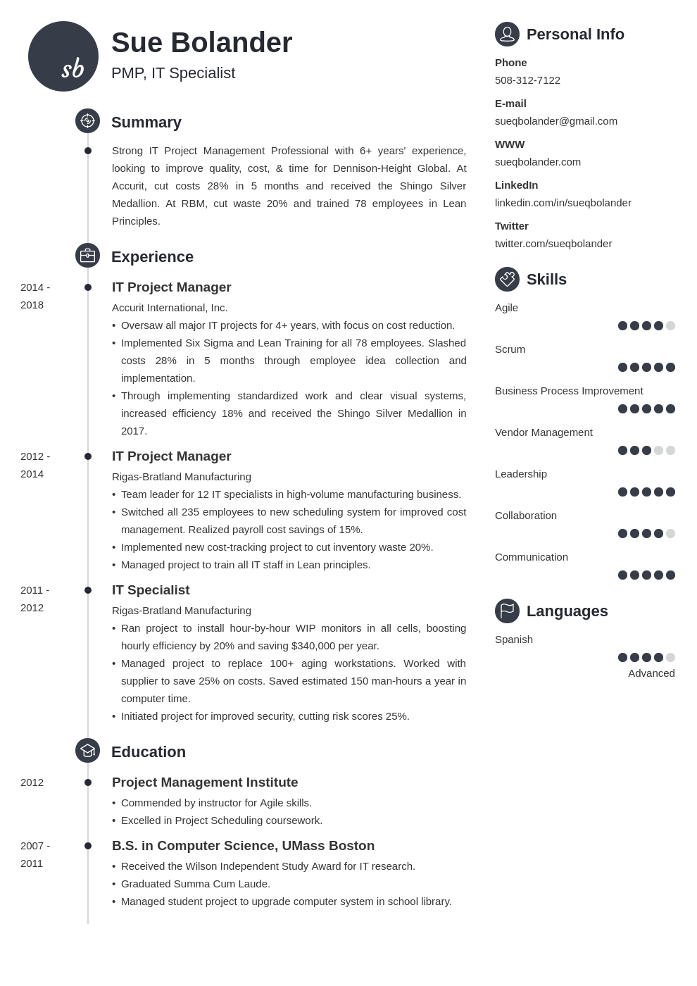 project manager template primo uk