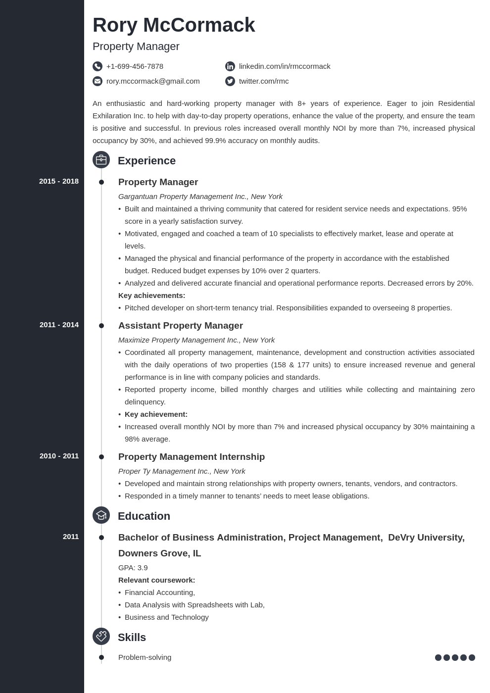 property manager template concept